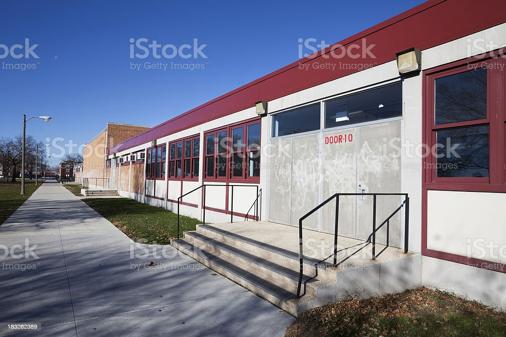 Bogan High School in Ashburn, Chicago royalty-free stock photo