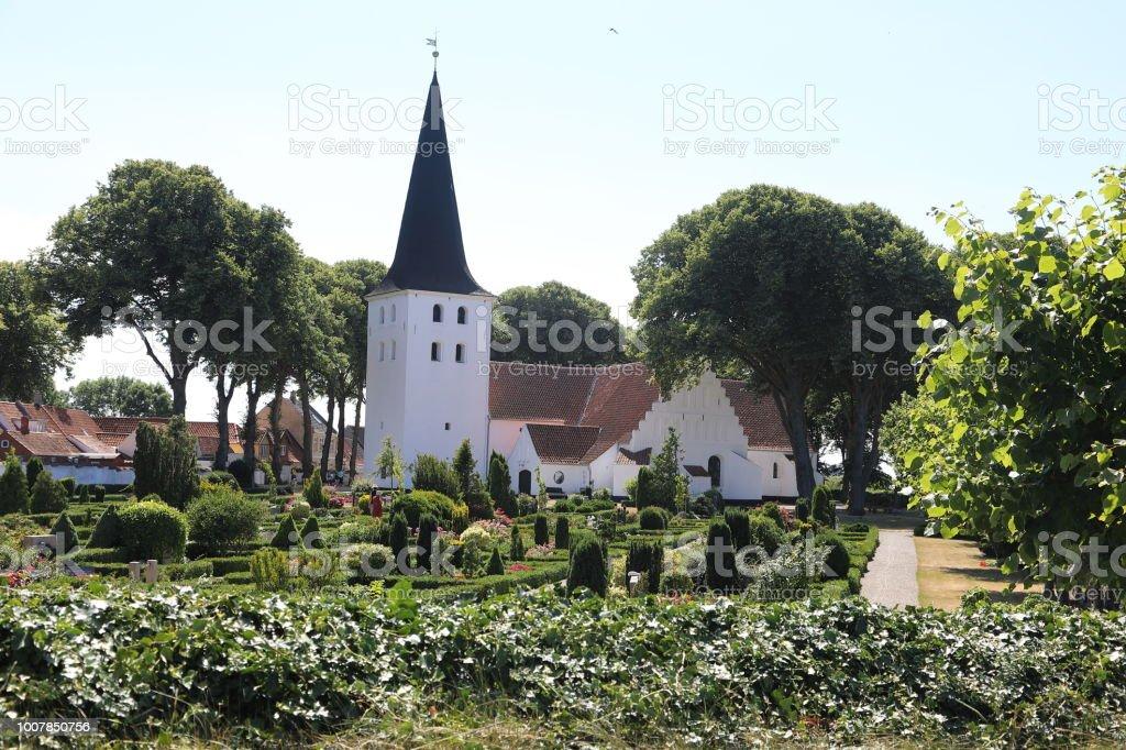 Bogense Kirke Parish Church stock photo