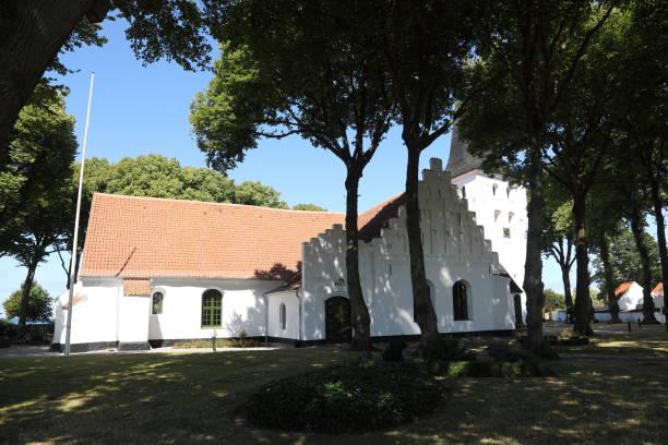 bogense kirke parish church - pejft stock photos and pictures