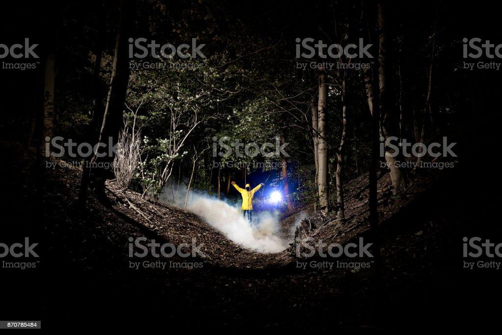 bogeyman in the dark stock photo