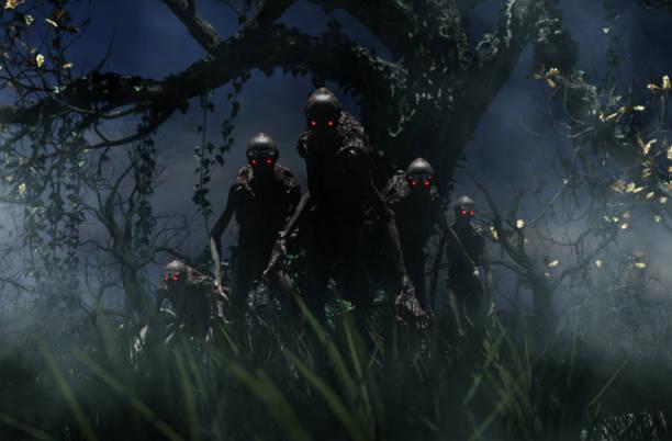 schreckgespenst - plants of zombies stock-fotos und bilder