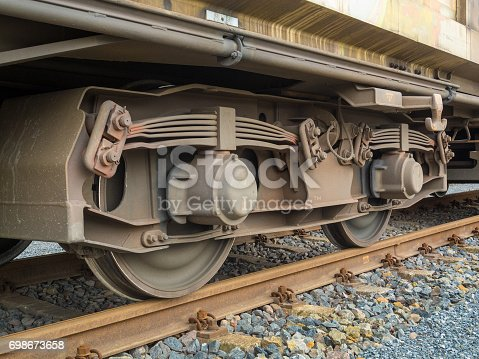 istock Bogie of a freight wagon 698673658