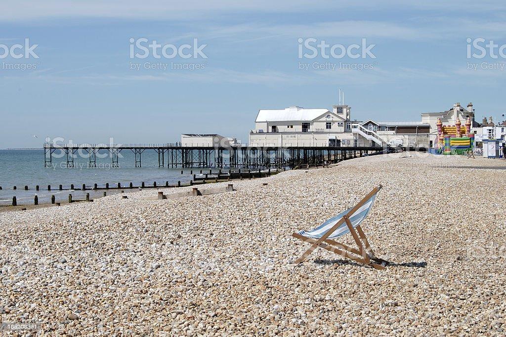 Bognor Regis plaży i molo. West Sussex. Anglia – zdjęcie