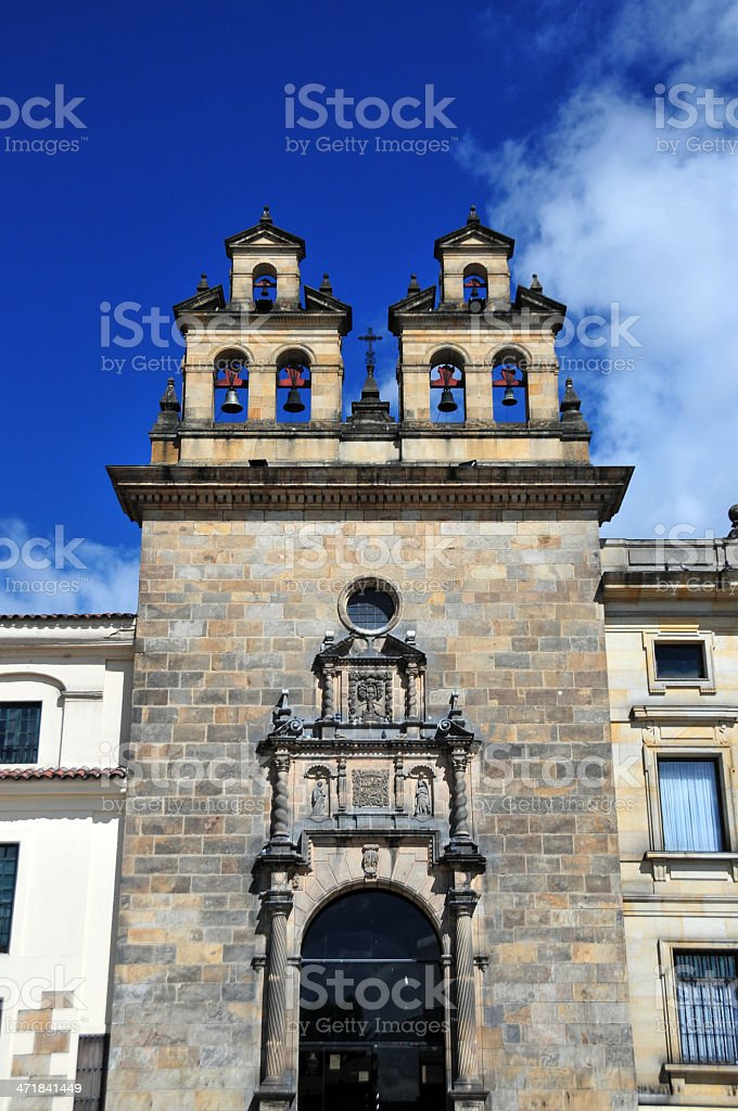 Bogotá, Colombia: Sacrament Chapel / Capilla del Sagrario stock photo