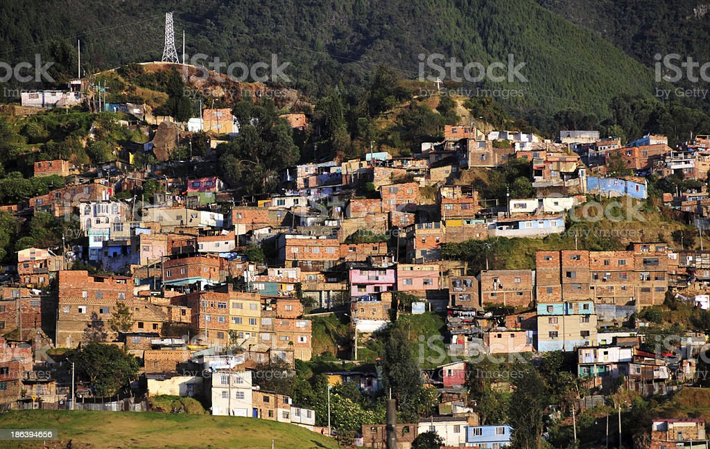 Bogotá, Colombia: slum royalty-free stock photo