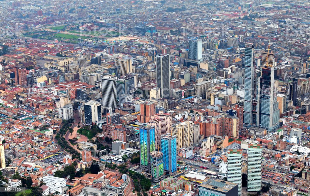 Bogota City View stock photo