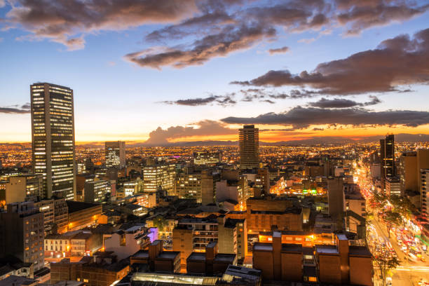 Bogota, Colombia at Dusk stock photo