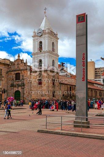 istock Bogota, Colombia - Carrera Septima On Veinte de Julio, 2016 A National Holiday in Colombia South America. 1304598722