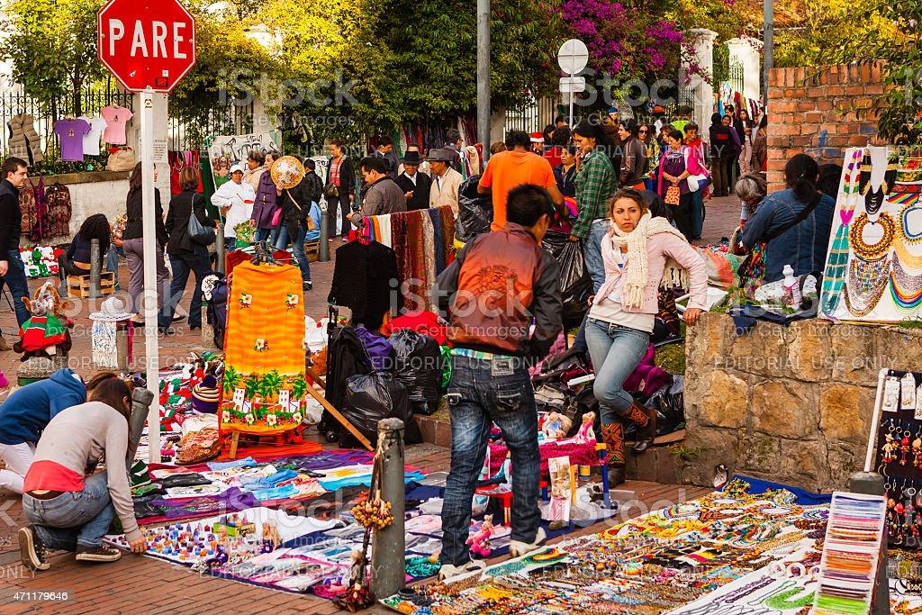 Bogota, Colombia - Flea Market and latin colours in Usaquen. stock photo