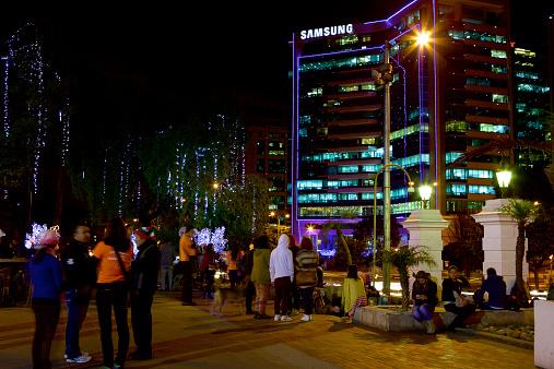 Christmas Celebration In America.Bogota Colombia In South America Christmas Celebration