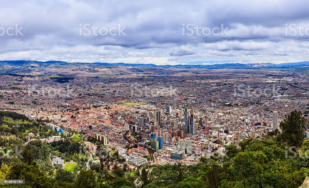 Bogota on The Andes, Panoramic View From Monserrate - foto de stock