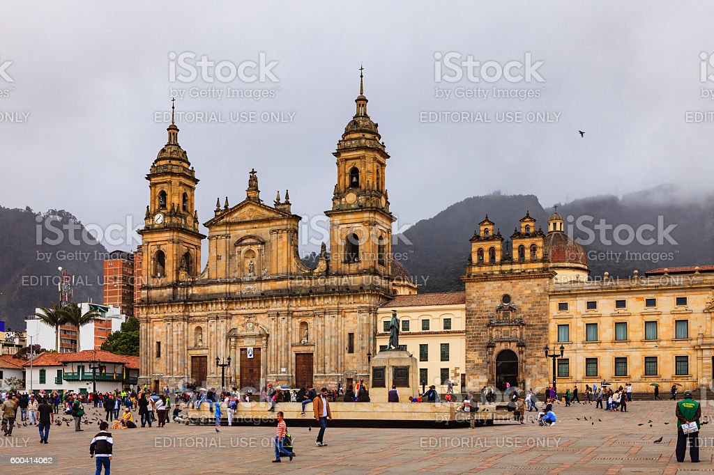 Bogota, Colombia - Plaza Bolivar Classical Spanish Colonial Architecture - foto de stock