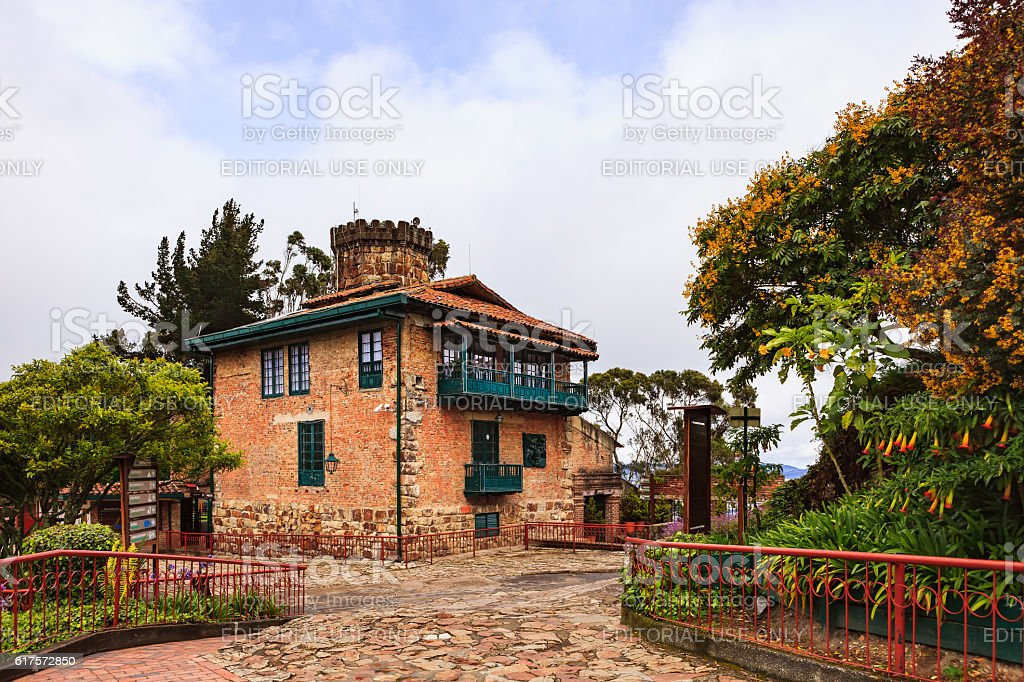 Bogota, Colombia - Rack Raliway Station atop Monserrate Mountain stock photo