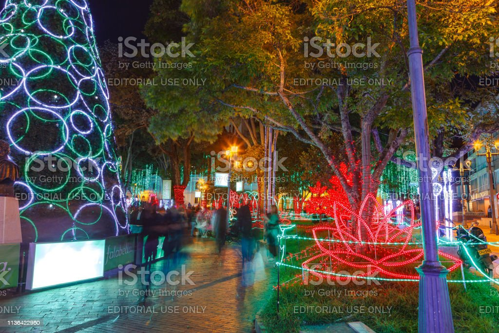 Christmas In Colombia South America.Bogota Colombia South America Christmas Led Illumination