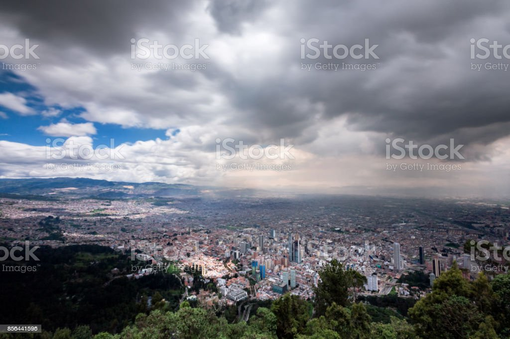 Bogota view stock photo