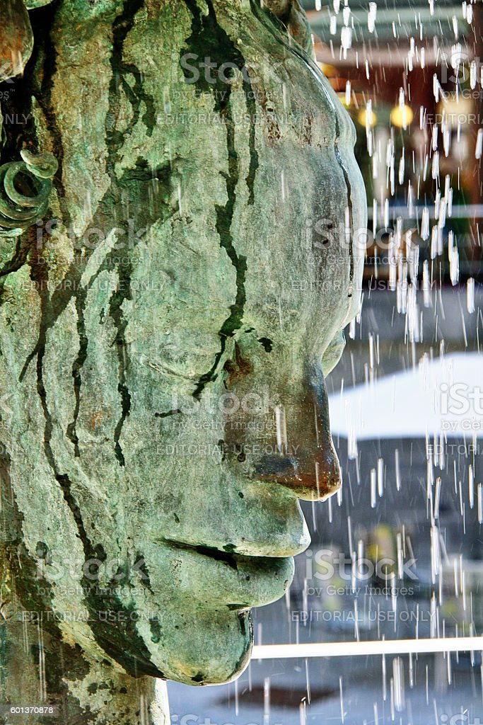 Bohemia, Karlovy Vary, Czech - May 22, 2011 - Crying fountain stock photo