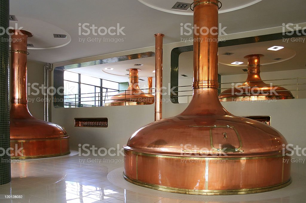 bohemian brewery stock photo