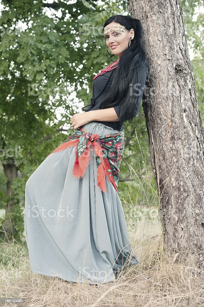 Bohemian Gypsy Woman royalty-free stock photo