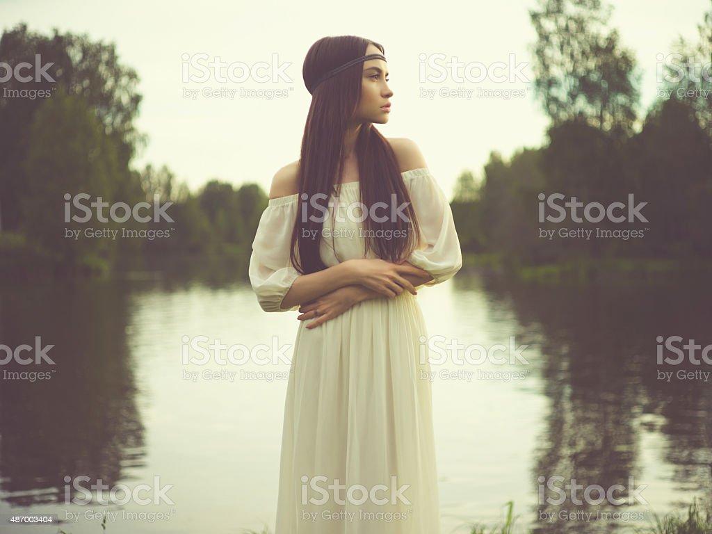Bohemian lady river - Photo