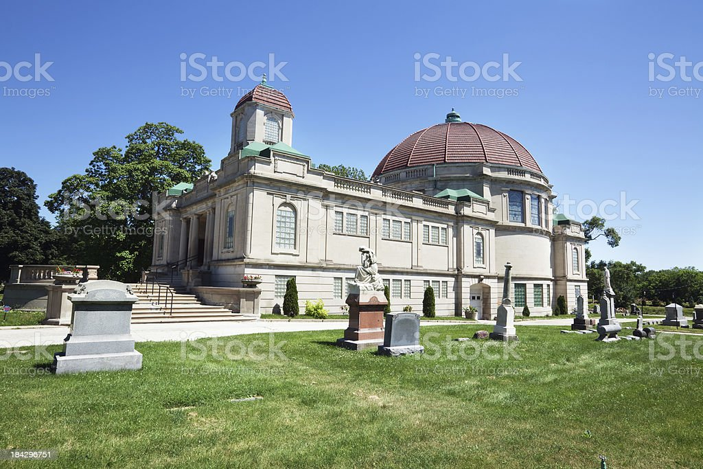 Bohemian National Cemetery Crematorium in North Park,  Chicago royalty-free stock photo