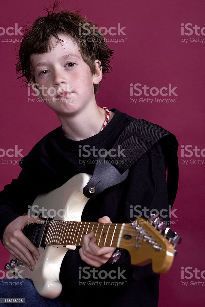 Bohemian Rocker Kid stock photo