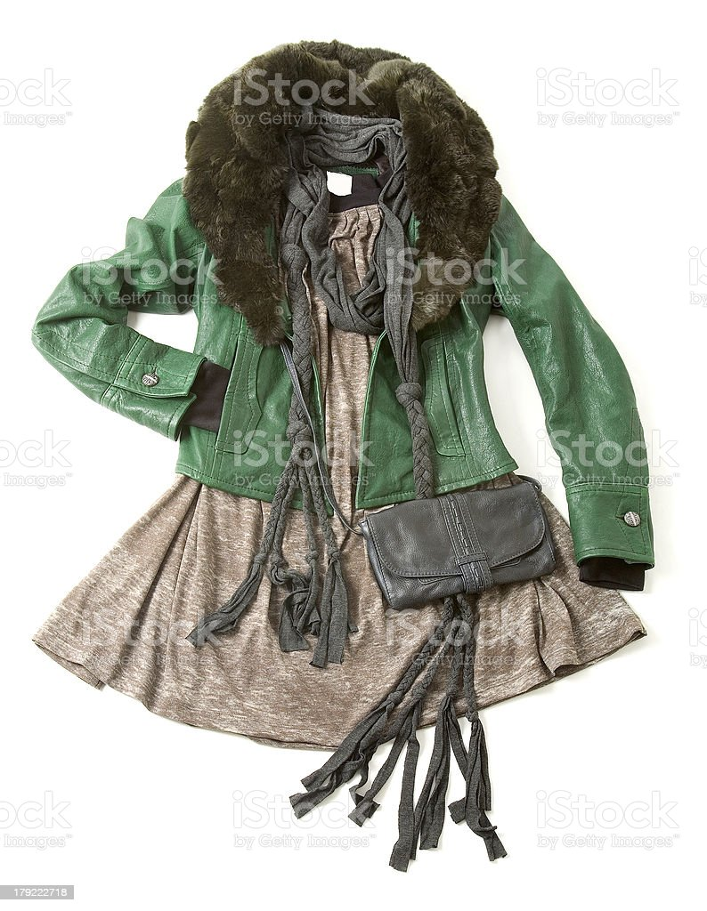 Bohemian styling fashion composition royalty-free stock photo