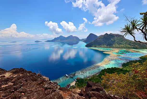 Bohey dulang Scenic view, Sabah Borneo Malaysia stock photo