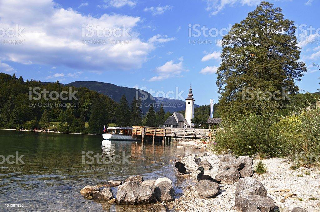 Bohinj lake royalty-free stock photo