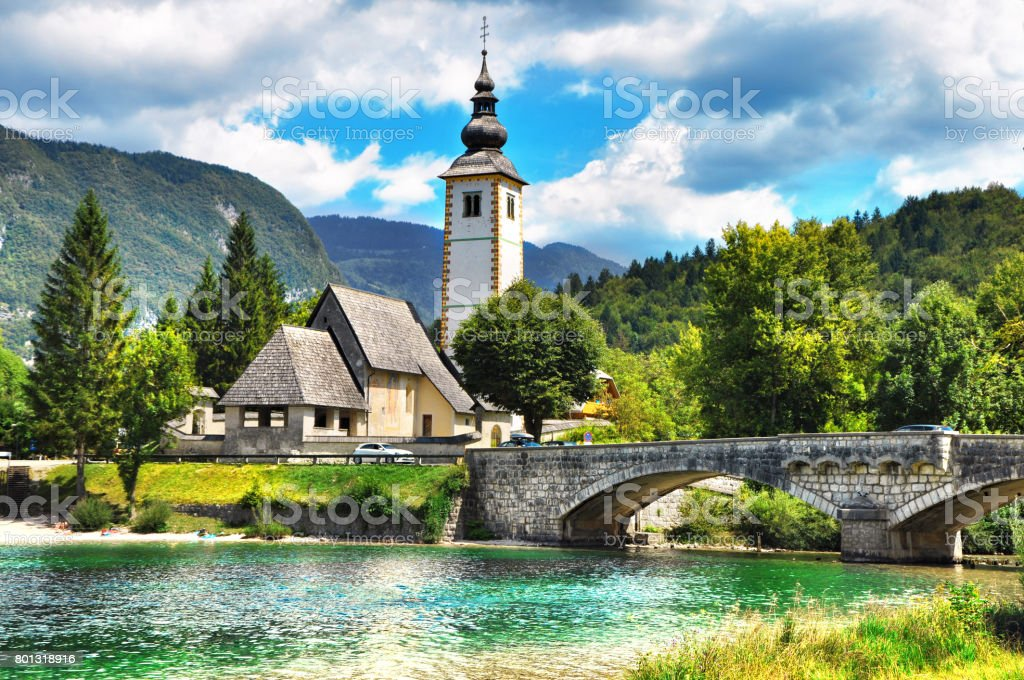 Bohinj Lake,Triglav National Park, Julian Alps, Slovenia. stock photo