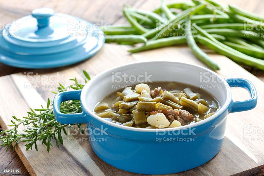 Bohnensuppe - foto de acervo