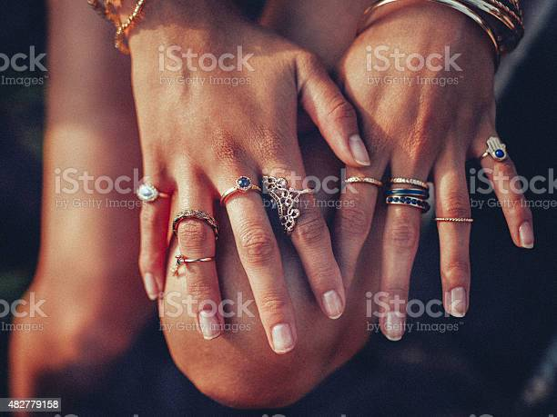 Boho girls hands looking feminine with many rings picture id482779158?b=1&k=6&m=482779158&s=612x612&h= ugeaxct buj3buyagu7x8jqqn4 g4sh06clrswdhny=