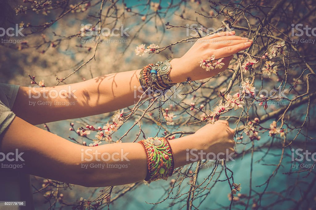 Boho style stock photo
