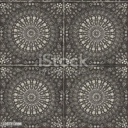 Boho style tiles wallpaper texture