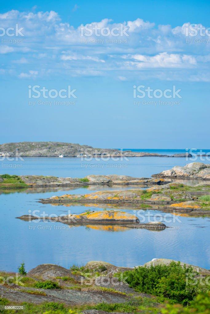 Bohuslan calm summer morning stock photo