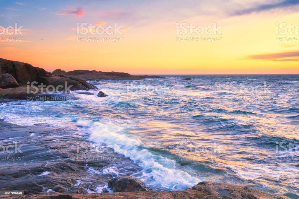 Bohuslan Island Sunset stock photo