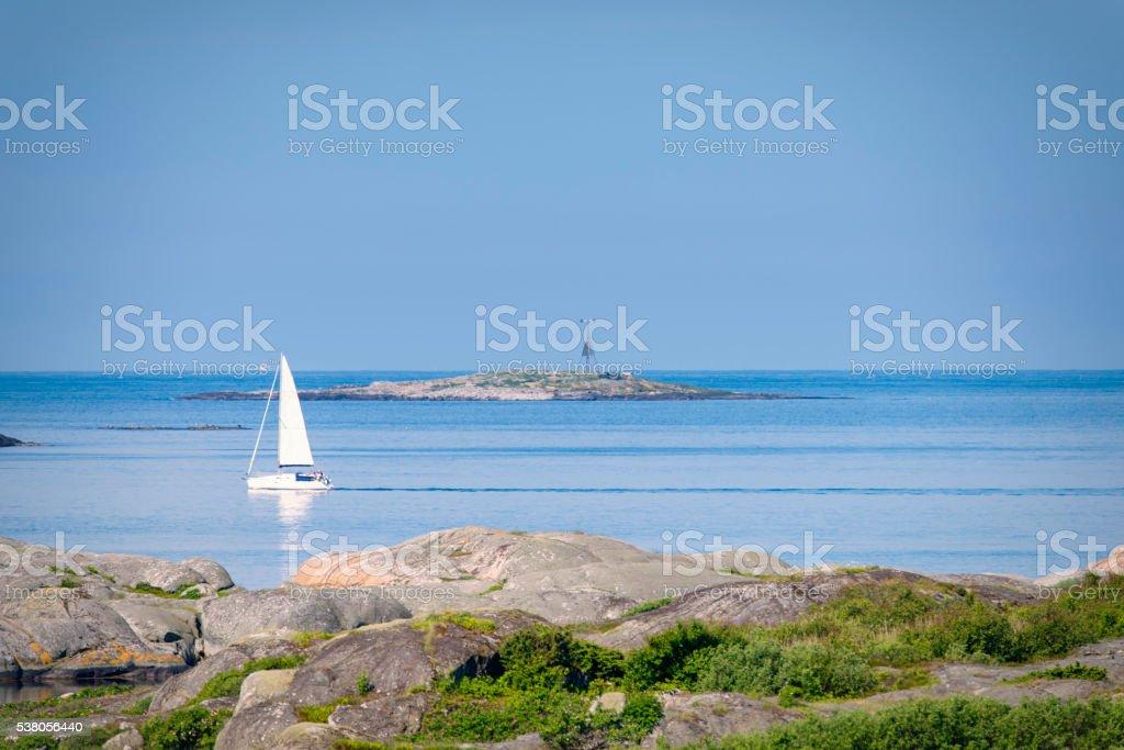 Bohuslan morning sail stock photo