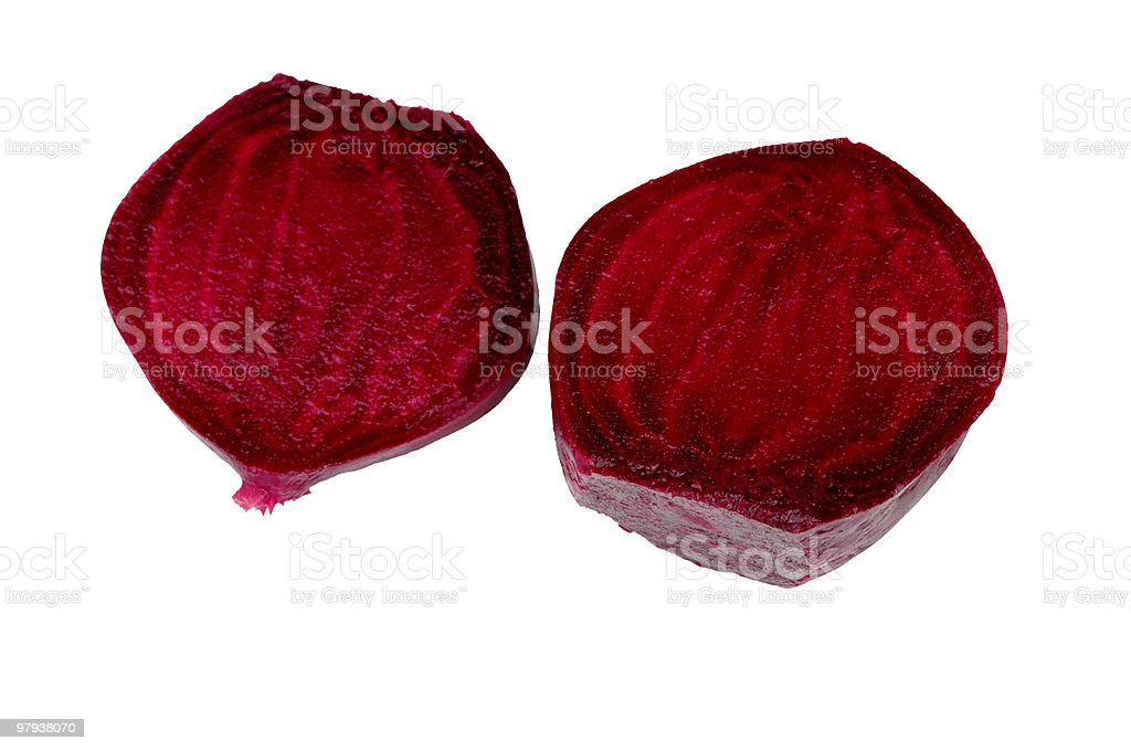 Boiled Beetroot Isolated On White royalty-free stock photo