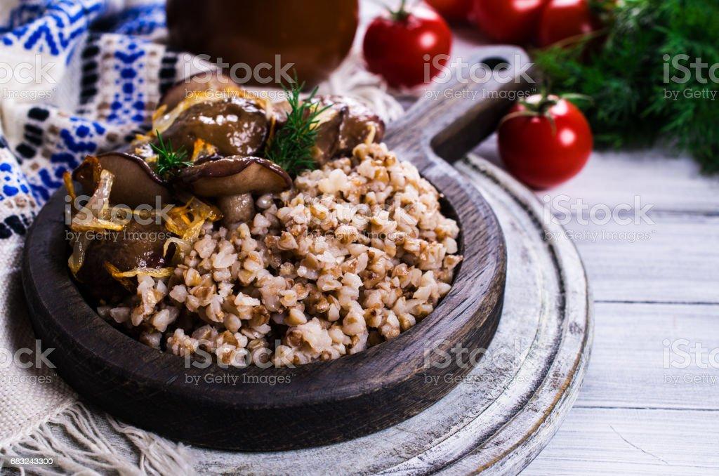 香菇煮蕎麥 免版稅 stock photo