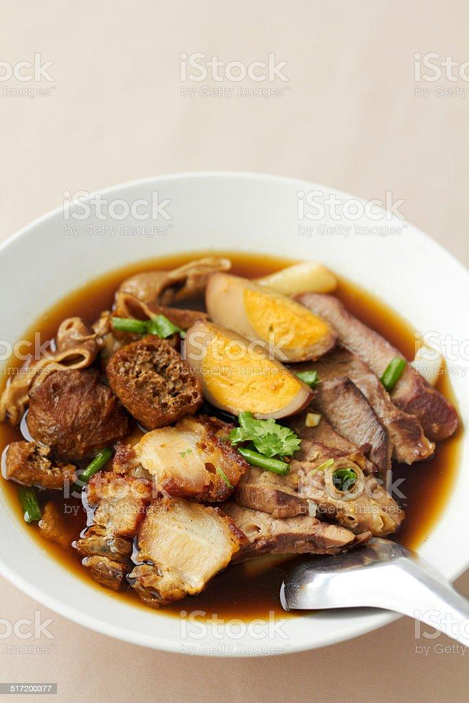 Gekochte chinesische Nudeln square-Suppe – Foto