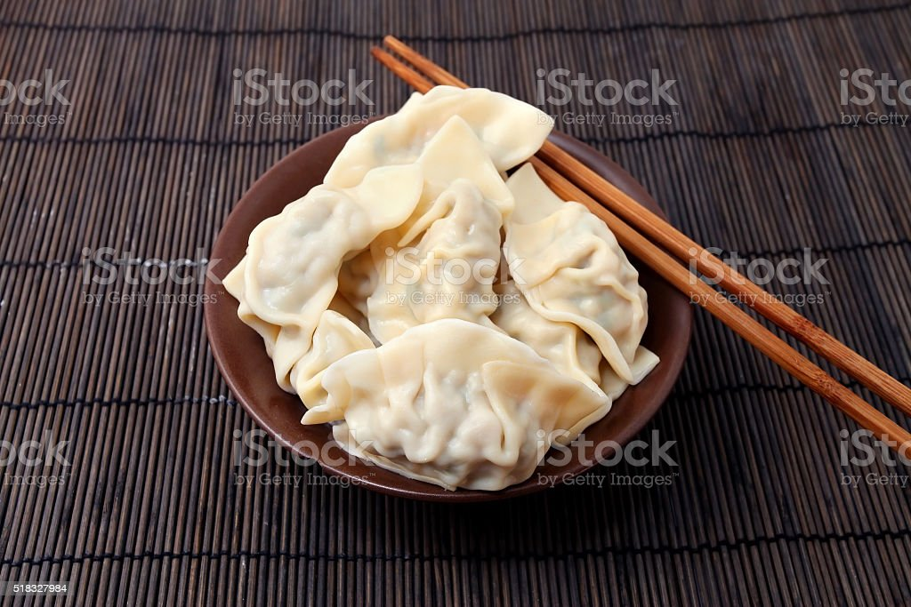 Boiled Dumpling stock photo