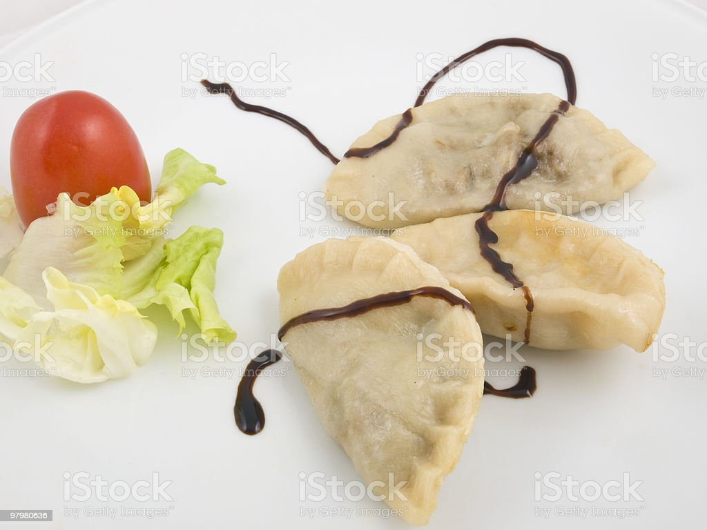Boiled dumplings royalty-free stock photo