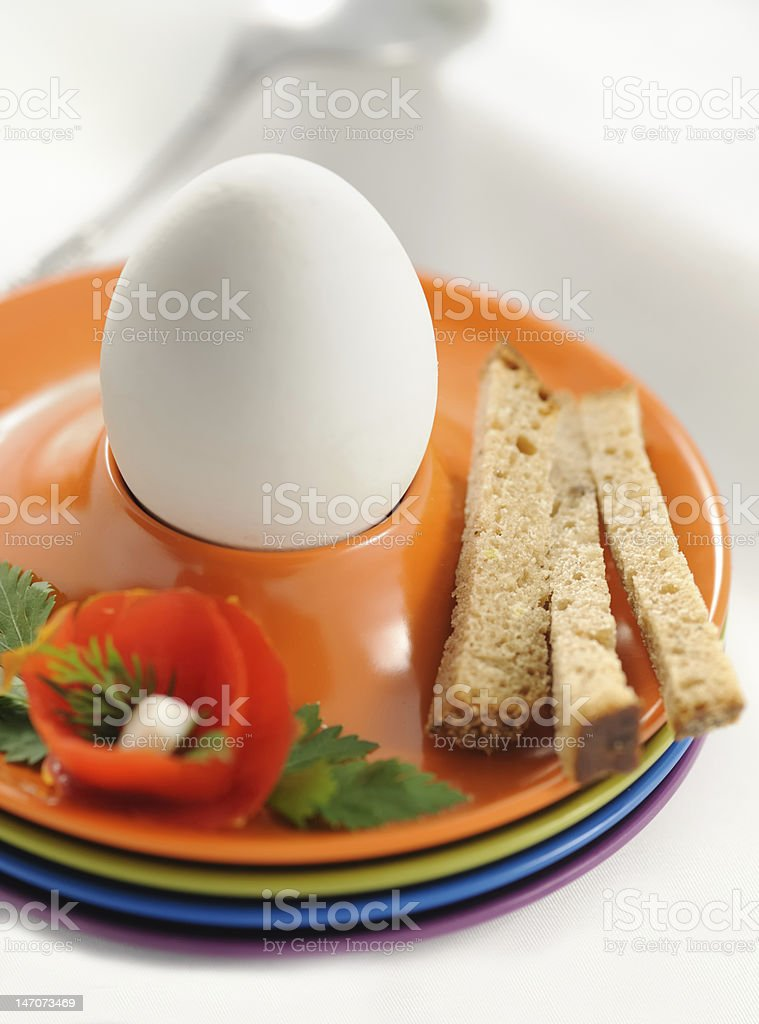 Boiled egg for breacfact royalty-free stock photo
