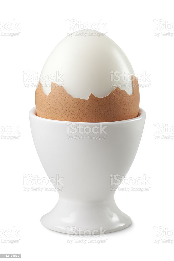Boiled egg in an eggcup royalty-free stock photo