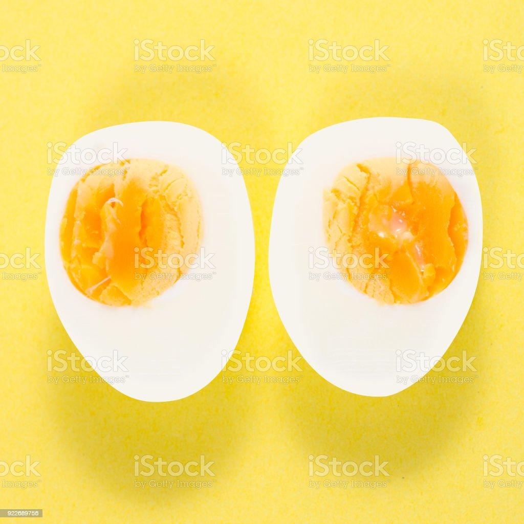 Boiled egg isolation stock photo