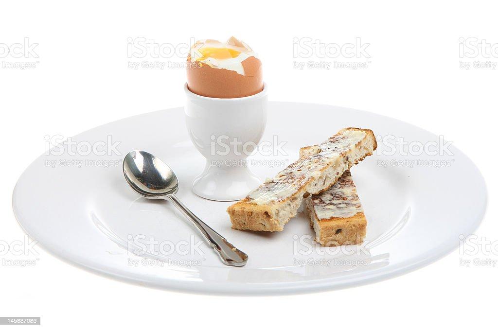 Boiled Egg & Toast stock photo