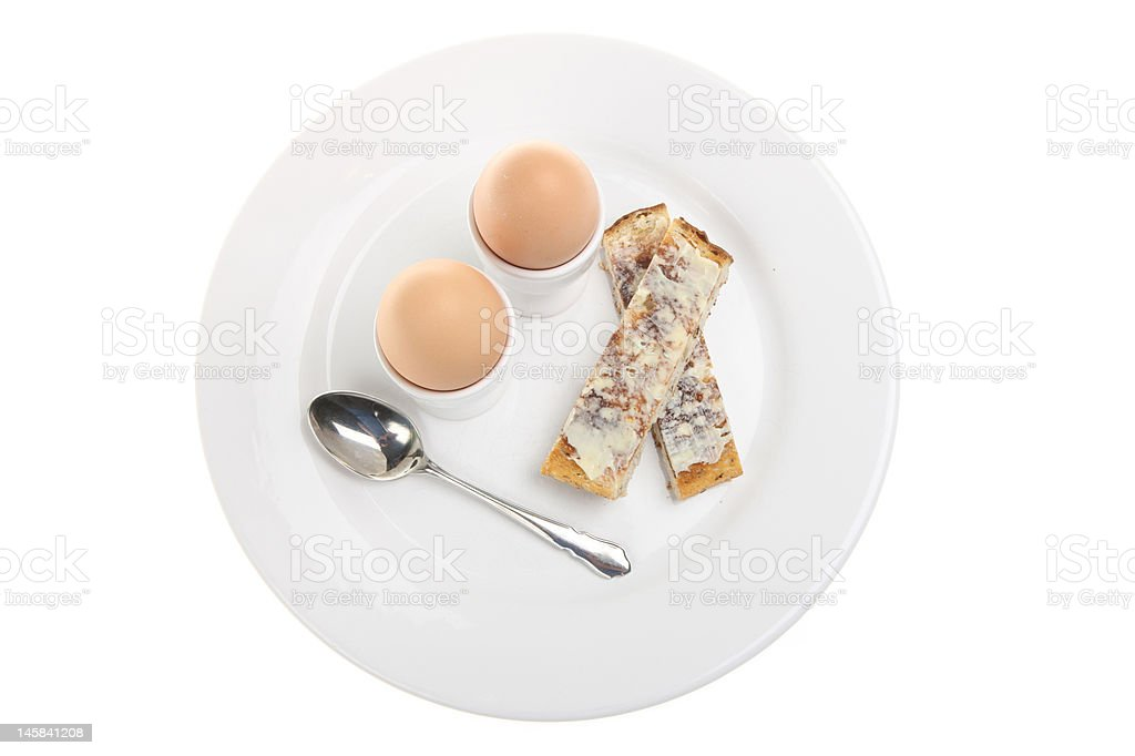 Boiled Eggs & Toast royalty-free stock photo