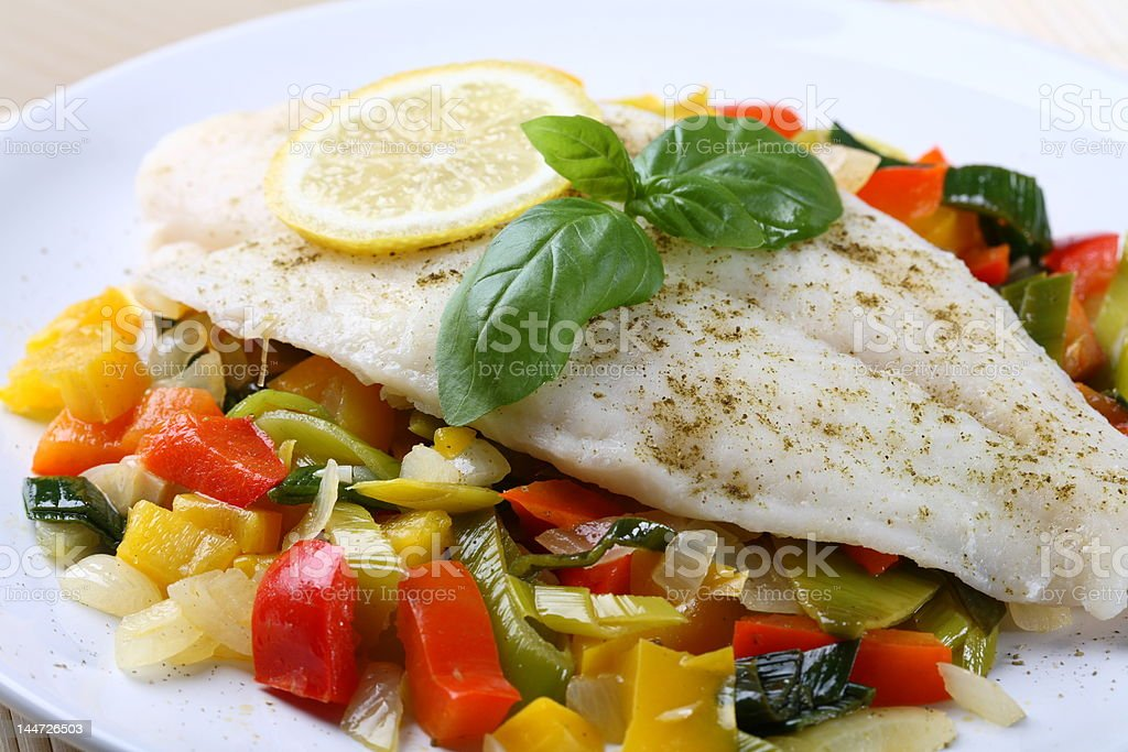 Boiled fish royalty-free stock photo