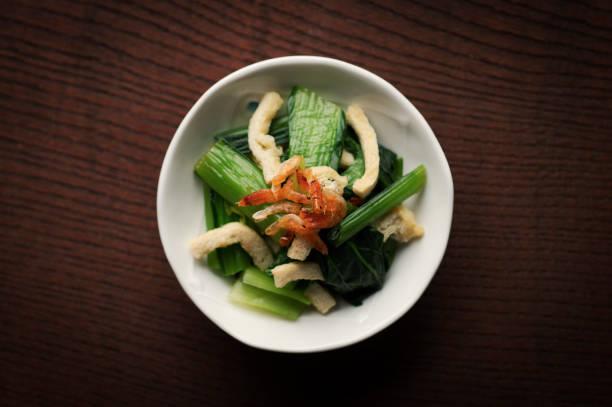 小松菜と揚げ豆腐 ストックフォト