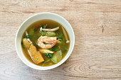 istock boiled mixed vegetable topping shrimp Thai spicy soup 1320128422