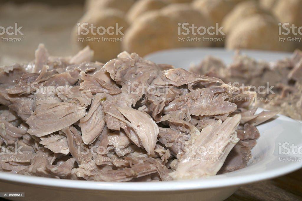 boiled of turkey stock photo